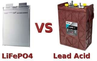 comparing lithium ion phosphate batteries to lead acid batteries