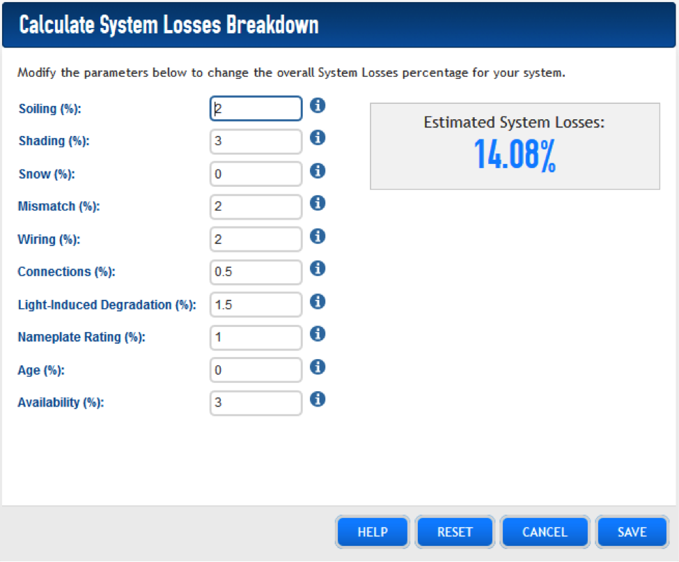 Learn what to adjust in the loss calculator when using power optimizers and microinverters
