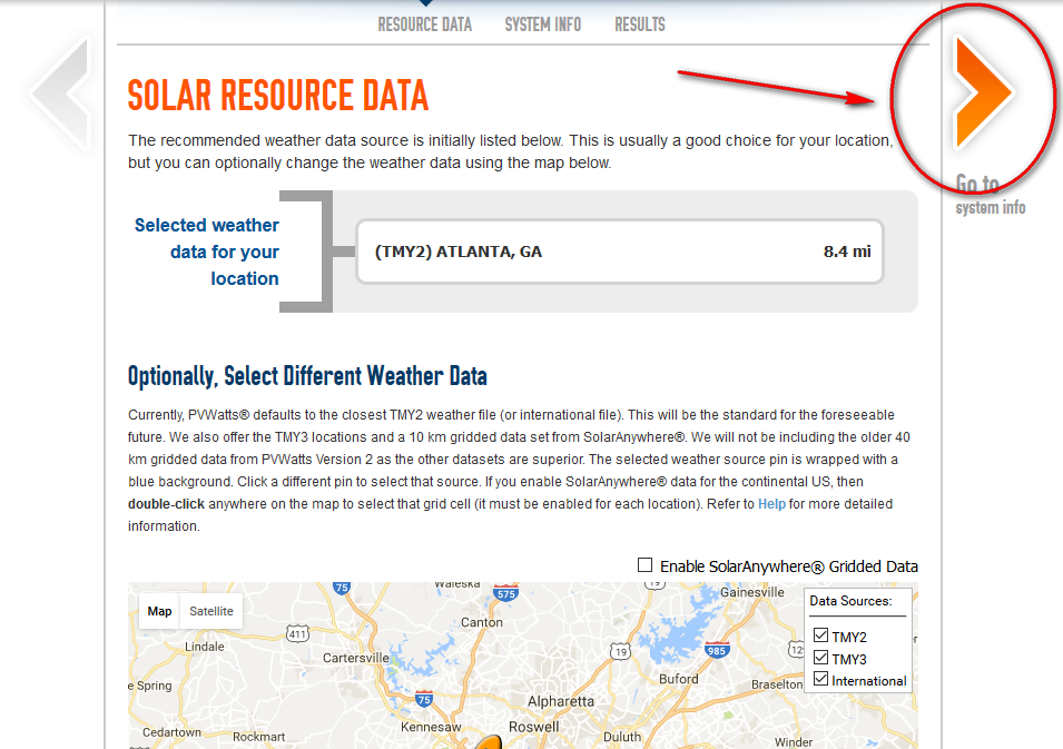 location and weather data will give accurate values for your home, farm, or business