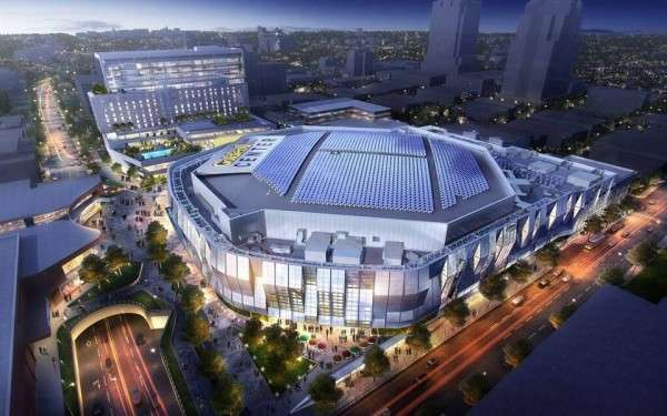 The Golden 1 Center basketball arena opens this year, powered completely by solar energy