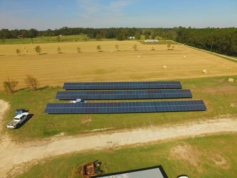 solar panels installed for a farmer in georgia