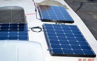 RV solar panels help travelers avoid required hookups
