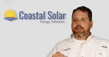screenshot of video about poultry farms and solar power