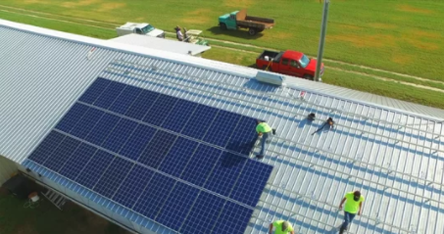 screenshot of video about the founding of coastal solar power company