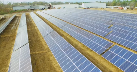 screenshot of video about solar project