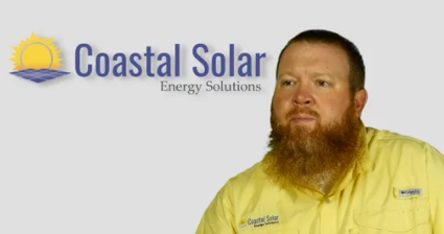 screenshot of video about solar power for farms