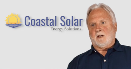 screenshot of video about solar power comparing to indoor plumbing