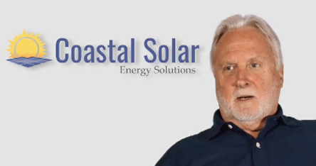 screenshot of video about coastal solar's rapid growth