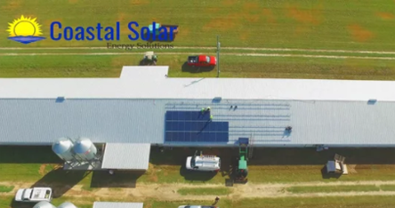 screenshot of video about the durrence farms solar install