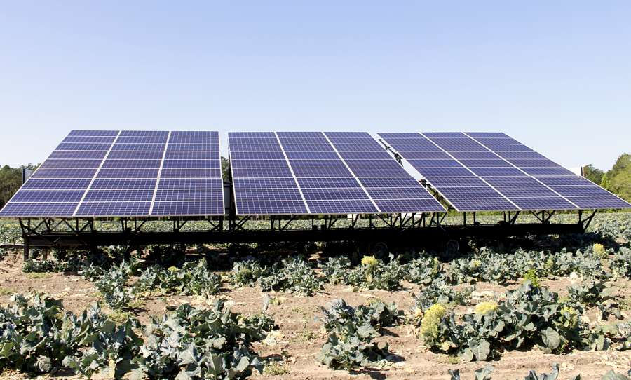 mobile solar power on a farm
