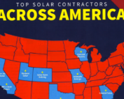 graphic showing the top solar contractors across america