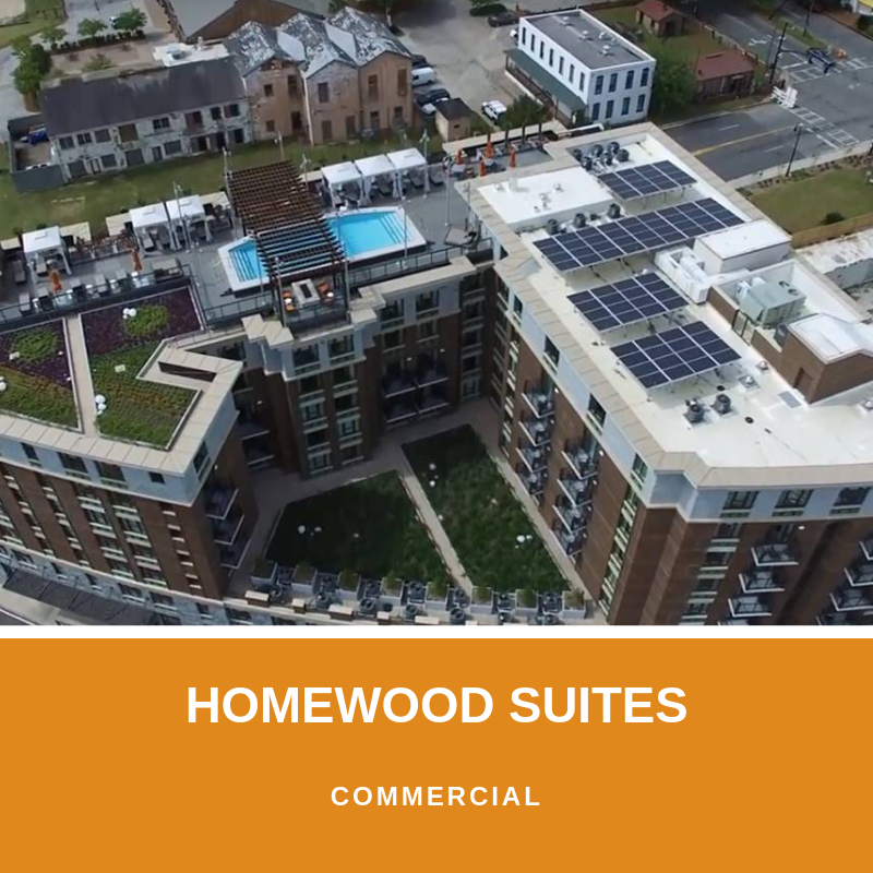 homewood suites commercial solar project