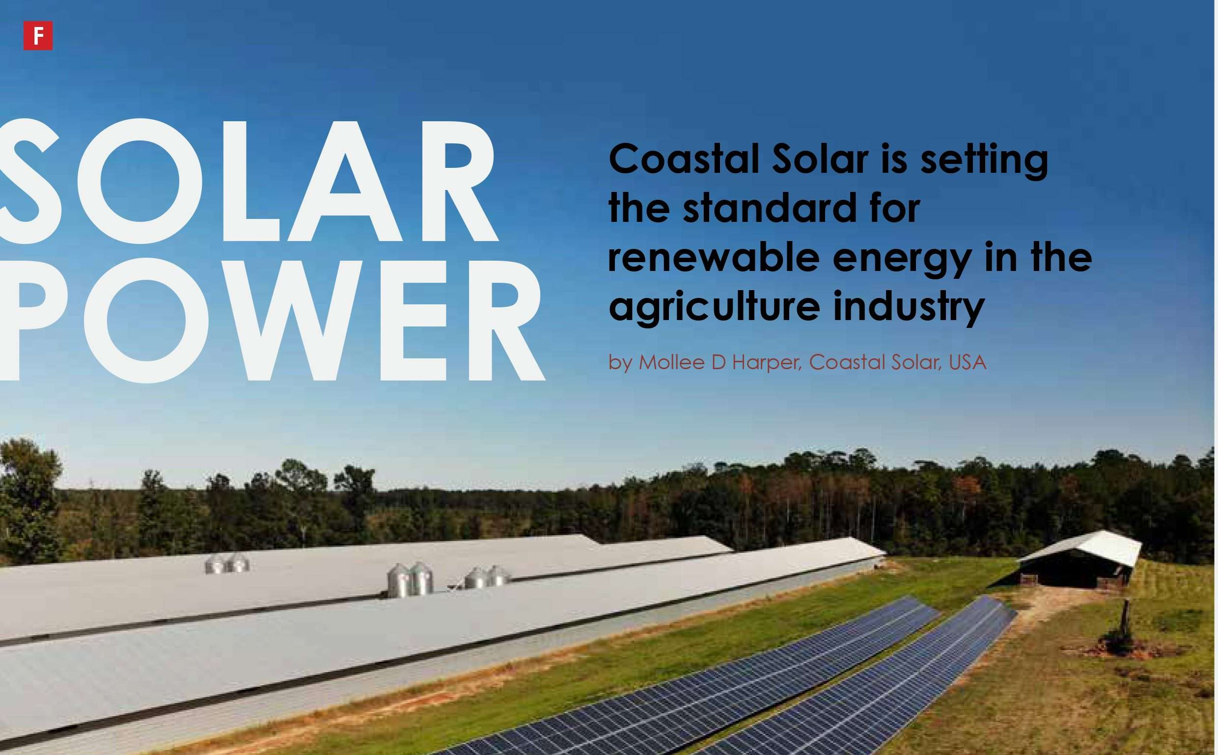 cover of Coastal Solar feature in British agricultural magazine